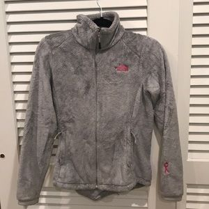 North Face Breast Cancer Edition Gray Fleece